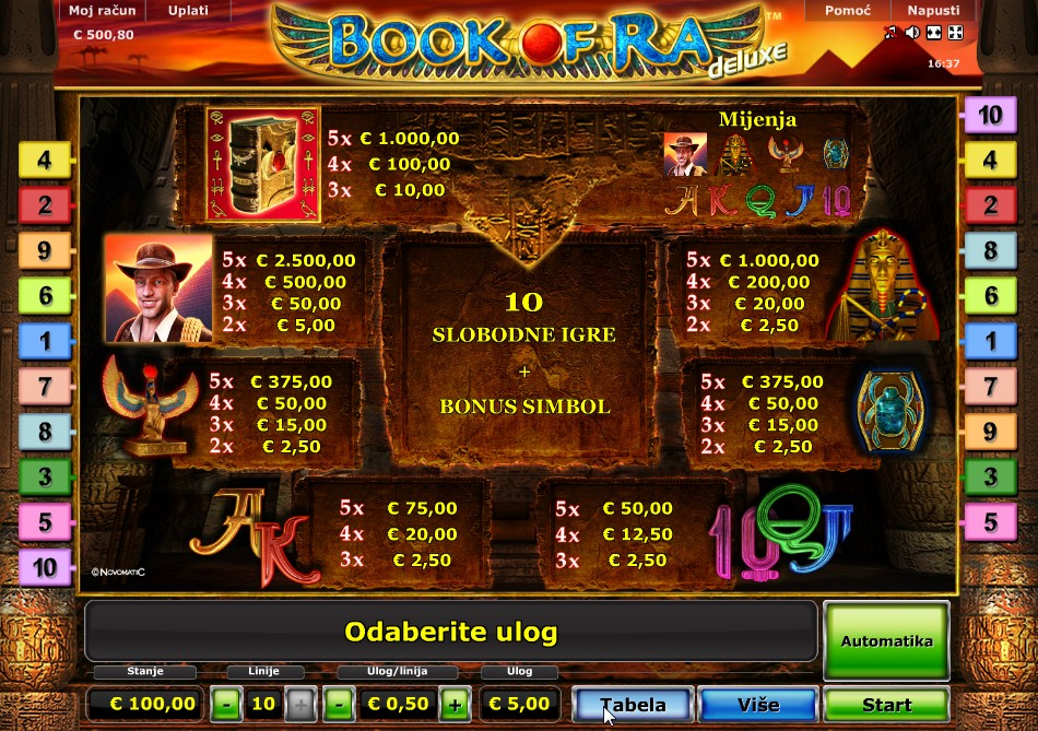 giochi slot machine gratis book of ra